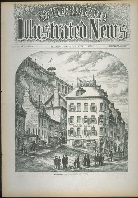 View from Champlain street / Canadian Illustrated News,1880.