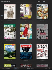 Application Zinio pour iPad